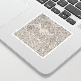 mountains zentangle Sticker