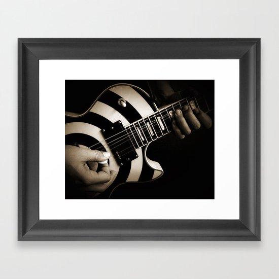 The Guitar Player Framed Art Print