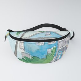 Key West Florida Conch Dream House - Southernmost Street Scene Fanny Pack