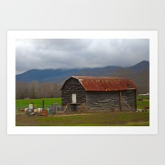 Old Barn in N.C. Art Print