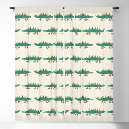 Crocodile on Roller Skates Blackout Curtain