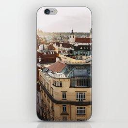 Prague Cityscape at sunset iPhone Skin