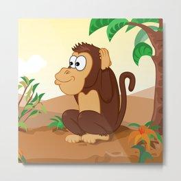 Three wise monkeys 3/3 Metal Print