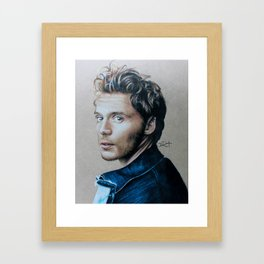 Sam Claflin Drawing Framed Art Print