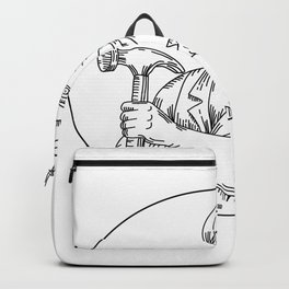 Vintage Carpenter Hammer Mono Line Backpack