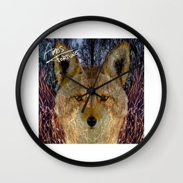 Long Night Coyote Wall Clock