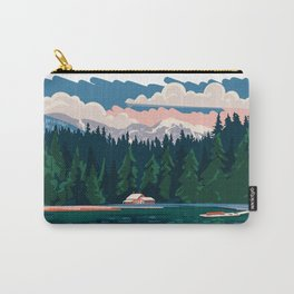 Cabin by a lake Carry-All Pouch