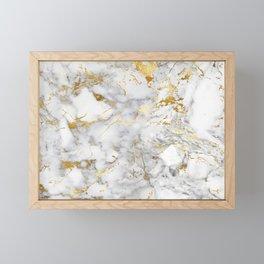 Gold Mine Marble Framed Mini Art Print