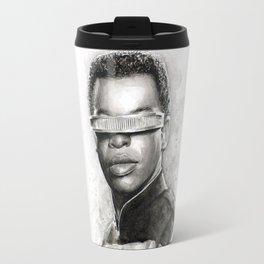 Geordi La Forge Star Trek Art Travel Mug