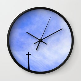 Cross in the Clouds Wall Clock