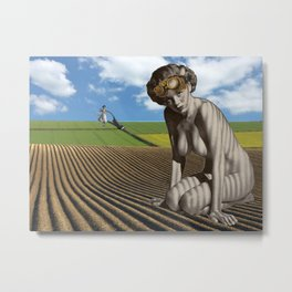Out in the Field Metal Print