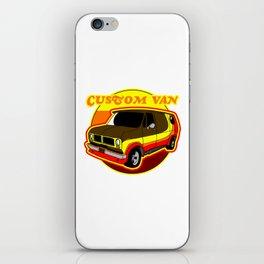 Groovy Custom Van 1970s Design iPhone Skin