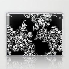 Cabbage Roses - Black Laptop & iPad Skin