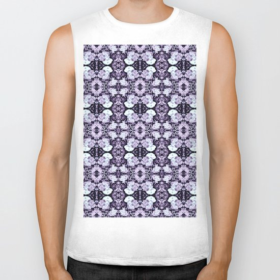 Violet  Roses Seamless Pattern Biker Tank