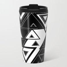 Triangle black and white Metal Travel Mug