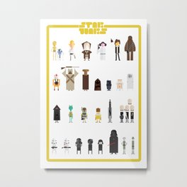 starwars episode IV figures Metal Print