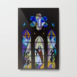 Stained Glass of the Cathedral Almudena, Madrid Metal Print