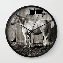 Horse and shed Wall Clock