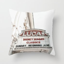 A Day at the Movies Throw Pillow