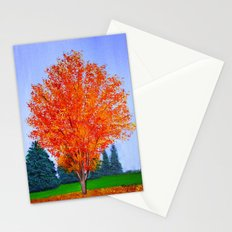 Fall tree in ND Stationery Cards
