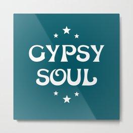 Gypsy Soul Mystical Stars Teal Metal Print