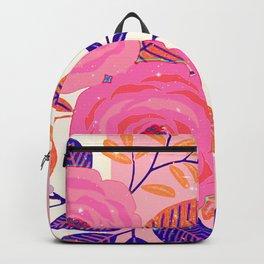 pink wild flowers Backpack