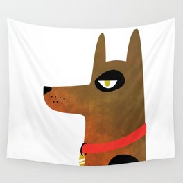 Pinscher Dog Wall Tapestry