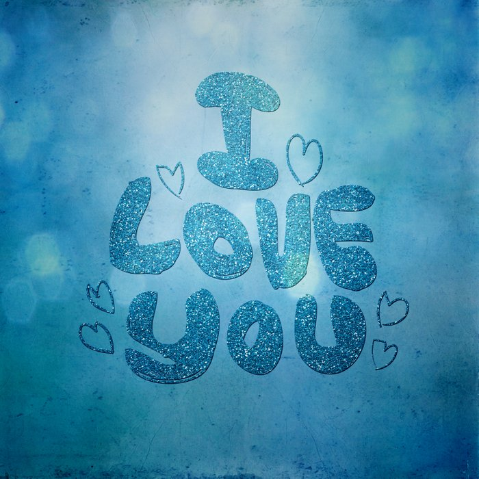 I love you - Sparkling Glitter Comforters