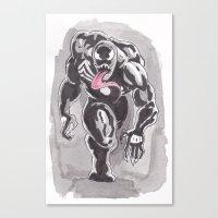 venom Canvas Prints featuring Venom by Matthew Sutton Art