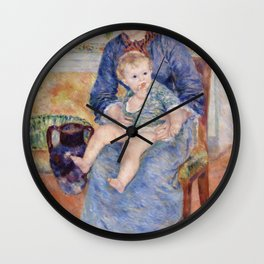 Young Mother (Jeune mere) (1881) by Pierre-Auguste Renoir Wall Clock