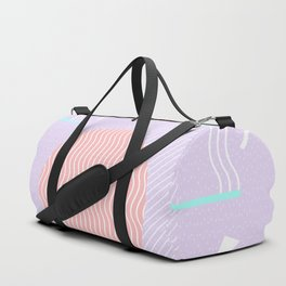 Memphis Summer Lavender Waves Duffle Bag