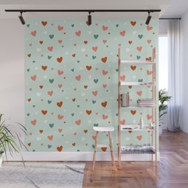 Valentines Hearts Wall Mural