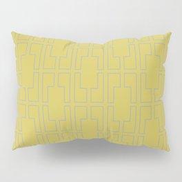 Simply Mid-Century Retro Gray on Mod Yellow Pillow Sham