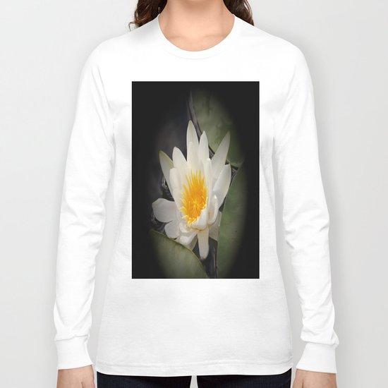 White Waterlily Long Sleeve T-shirt