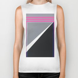 London - pink graphic Biker Tank