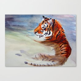 Chilling Tiger Canvas Print