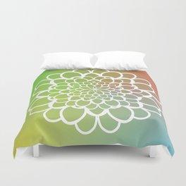 Mandala on a Rainbow Duvet Cover