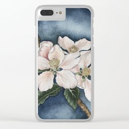 Apple blossom in the evening sun Clear iPhone Case