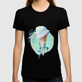 Blue Sugar Icecream Cone T-shirt