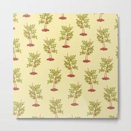 Kitchen Pattern Neck Gaiter Tomato Plants Gator Vegetable Gardener Metal Print