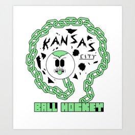 Kansas City Ball Hockey Wildin' Owt [Large Graphic] Art Print