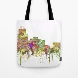 Durham,NC Skyline - Faded Glory Tote Bag