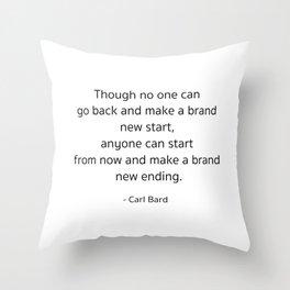 Starting – Carl Bard Throw Pillow