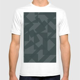 grey pattern // geometric T-shirt