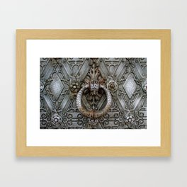 the door keeper Framed Art Print