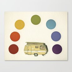 We Camped Beneath a Rainbow Canvas Print