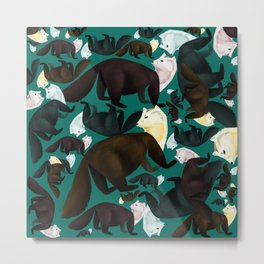 Marten tropical pattern Metal Print