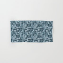 Abstract Geometrical Triangle Patterns 3 Behr Blueprint Blue S470-5 Hand & Bath Towel