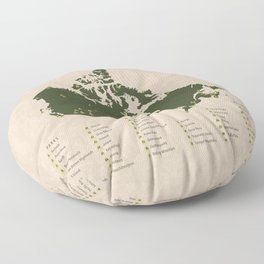 National Parks of Canada Floor Pillow