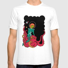 Space Voyagers SMALL Mens Fitted Tee White
